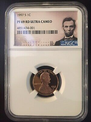 1997 S Lincoln 1C *Ngc* Pf69 Rd Ultra Cameo (Portrait Label)