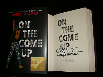 Angie Thomas signed On The Come Up 1/1 HC book signed in person NOT TIPPED