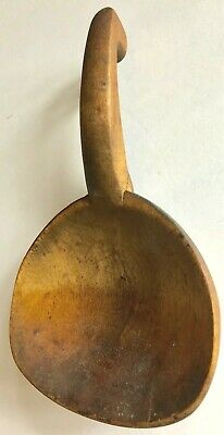"""Antique/VTG Farmhouse Primitive Wood Butter Spoon/Scoop 9"""" Great Aged Patina!"""