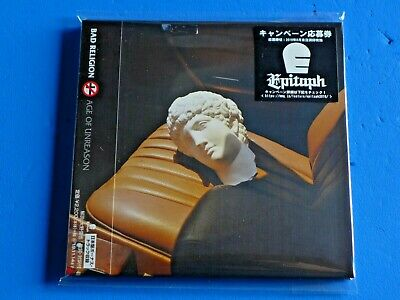 2019 JAPAN BAD RELIGION AGE OF UNREASON DIGI SLEEVE CD w/BONUS TRACK FOR JAPAN