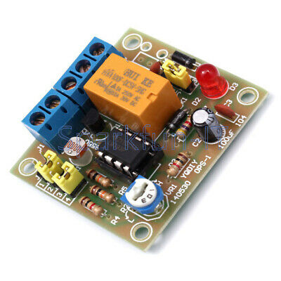 NEW DIY Light-Operated Switch Kit DIY Kit With 5V Relay LM393 Electronic
