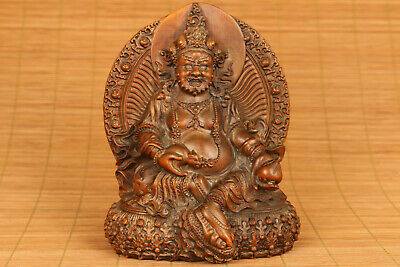 copy antique Big chinese old boxwood hand carved buddha monk statue netsuke