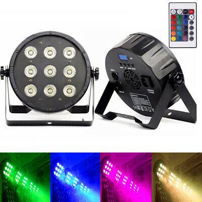 U`King 9 LEDs 100W Par Stage Light RGBW DMX512 DJ Party Disco Remote Lighting