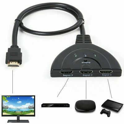 3 to 1 HDMI Splitter Hub Cable 1080P Switcher Adapter for HDTV Monitor Computer