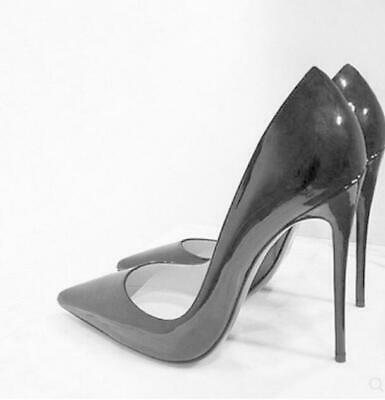 NEW Womens 12cm Nightclub Pointy Toe Punp Stilettos High Heel Shoes Uk Sz35-40