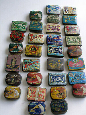A Collection Of Gramophone Needle Boxes.