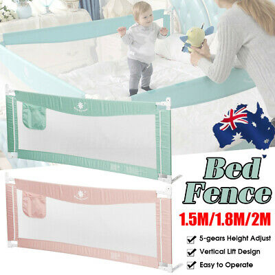 1.5M/1.8M/2M Kid Child Baby Bedguard Toddler Safety Bed Rail Guard Rail Folding