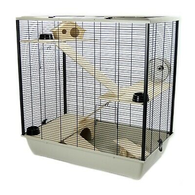 Pet Rat Hamster 78cm Cage Plaza - Small Pet Triple 3 Tiers Grey - Brand New