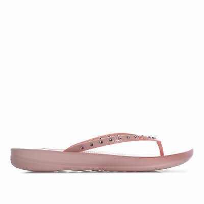 Womens Fit Flop Womens iQushion Crystal Ergonomic Flip Flops in Dusky Pink - UK