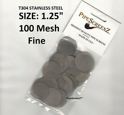 """100+ count Stainless Steel PIPE SCREENS 1.25"""" - 100 MESH/(FINE) - PipeScreenZ™"""