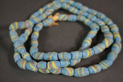 Ancient Roman/Phoenician Mosaic Color Glass Beads Beaded Choker Necklace Jewelry