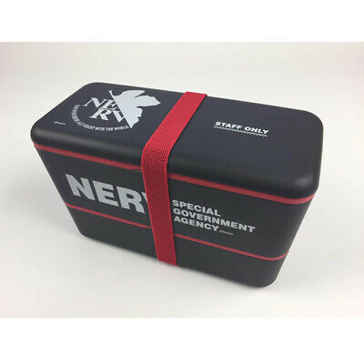 EVANGELION STORE original 2-stage Lunch Box Limited NERV STAFF ONLY Japan F/S