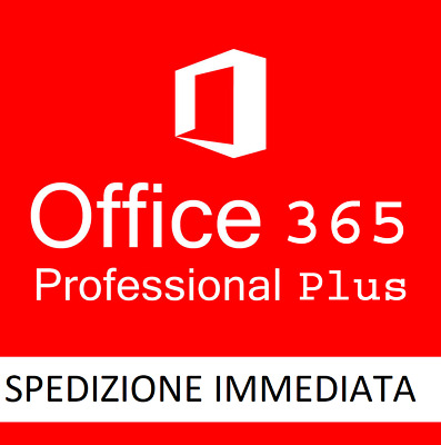 Office 365 Pro Plus / Office 2019 32/64 Bit LICENZA A VITA in ITALIANO