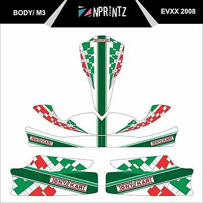 M3 Evxx 2008 Style Full Kart Sticker Kit - Karting - Otk - Evxx