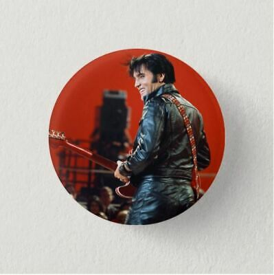 Chapa Pin Badge Button Brooch KING OF ROCK, ELVIS PRESLEY