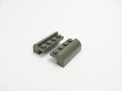 2x Lego part no 6081 Brick 2 x 4 x 1 /& 1//3 with Curved Top in White