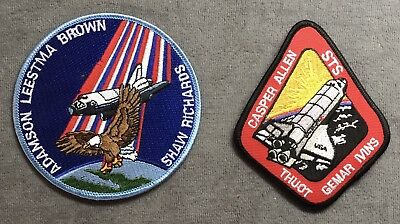 2 NOS Vintage NASA Space Shuttle Columbia STS 28R & STS 62 Mission Patches