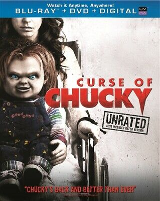 CURSE OF CHUCKY New Sealed Blu-ray + DVD Unrated