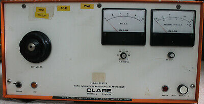 Clare flash tester Model A203G/J, tested working – see description (0-10kVac)