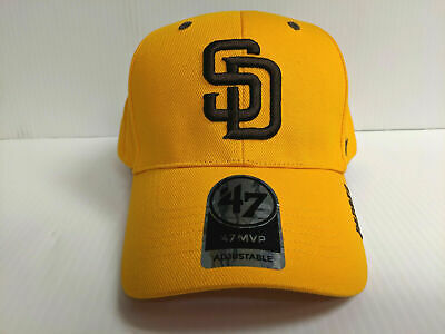 reputable site 0957e bcf9e San Diego Padres 47 Brand Cap Adjustable Frost MVP Hook   Loop Throwback Hat  MLB