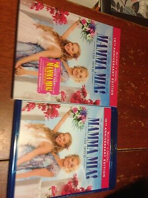 Mamma Mia! 10th anniversary edition with bonus feature DVD Blu-Ray ONLY!