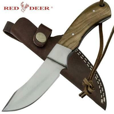 "Red Deer® 7.5"" Outdoors-man Moose Hide Hunting Knife with Leather Sheath"