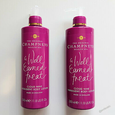 Two The Original CHAMPNEYS HEALTH SPA Cloud Nine Indulgent Body Lotion 350ml BN