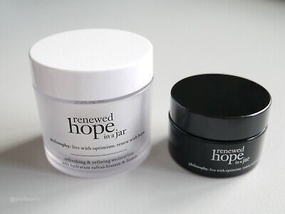 PHILOSOPHY Renewed Hope In A Jar Day 60ml & Night 15ml,24Hr Refresh Moisturizer
