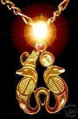 LOOK 0445 Sterling silver Egypt Gold Plated Horus Snake Cobra charm Egyptian Jew