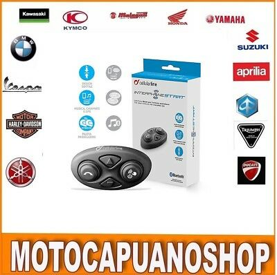 Interphone Bt Start Cellularline Interfono Casco Jet Integrale Moto Bluetooth