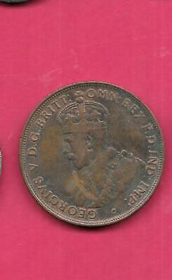 Australia Km23 1921 Vf-Very Fine-Nice Large Old Antique Bronze Penny Coin