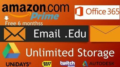 Amazon Prime 6 month/Unlimited Google Drive/Edu mail/more bonus