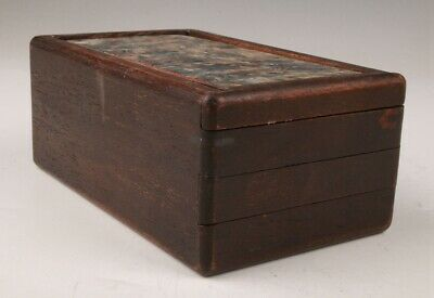 Vintage Chinese Wood Box Mechanism Box Sealed Crafts Collection Gifts