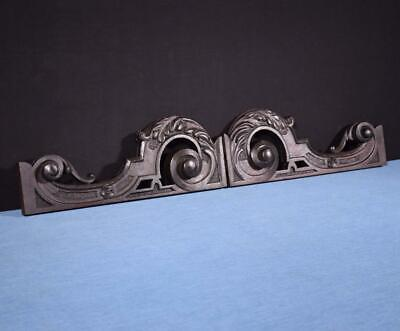 *French Antique Oak Wood Brackets Highly Carved Trim Salvage