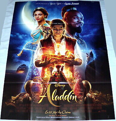 ALADDiN  Mena Massoud Disney Naomi Scott  Will Smith  LARGE French POSTER