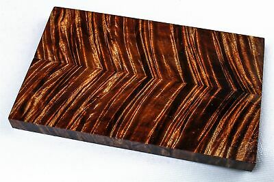 Exhibition Grade Old Growth Curly Koa Knife Scales, Grips, Stabilized  SCL8180
