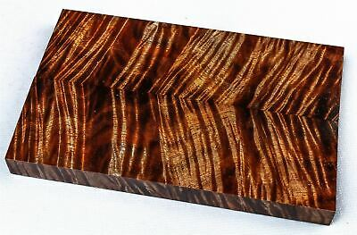 Top Shelf Old Growth Curly Koa Knife Scales, Grips, Stabilized Wood  SCL8174