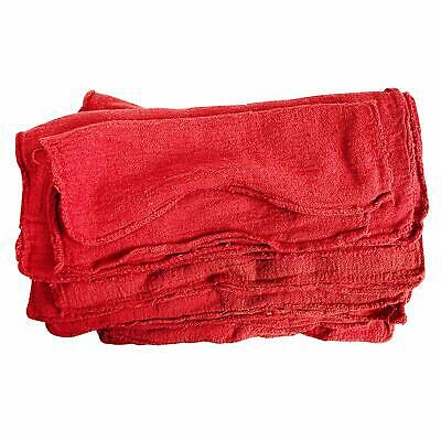 Detailer's Choice Mechanics Shop Towels red shop towel rags - 25-Pack
