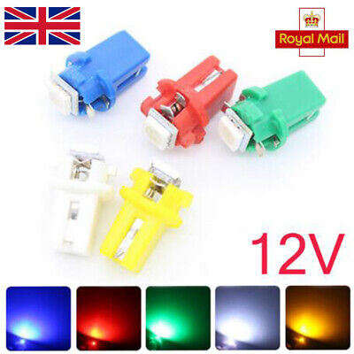 T5 B8.3D 5050 1SMD Car LED Dashboard Dash Gauge Instrument Light Bulbs 10PCS