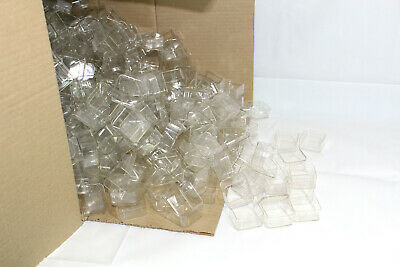 1000 x Tea light cups square candle making plastic holders