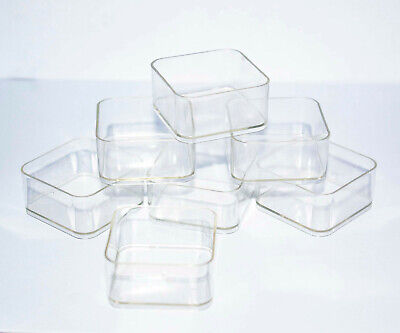 3000 x Tea light cups square candle making plastic holders