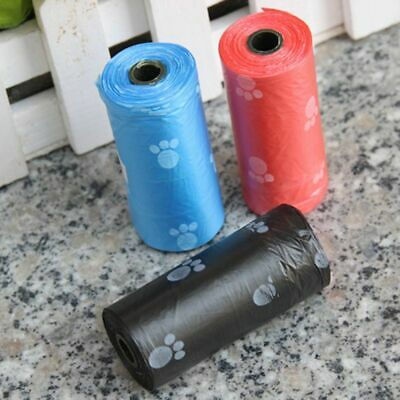 5 Rolls Pet Dog Waste Clean Poop Bags Pick Up Pooper Poo Bags Cute Pet Supplies