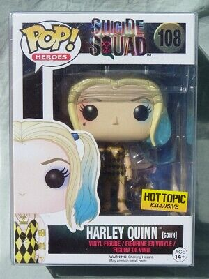 HARLEY QUINN GOWN Suicide Squad Pop funko VINYL FIGURINE n 108 Limite HOT TOPIC