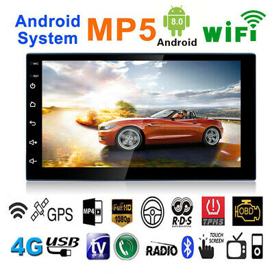 "Android 8.1 Car Stereo MP5 Player GPS Navigation 7"" 2 Din Radio WiFi BT FM Unit"