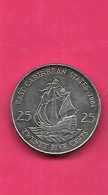 East Caribbean States 2002 25 Cents Uncirculated KM38