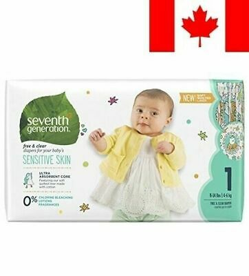 Seventh Generation Baby Diapers size 1  Free And Clear For Sensititive skin  Lot