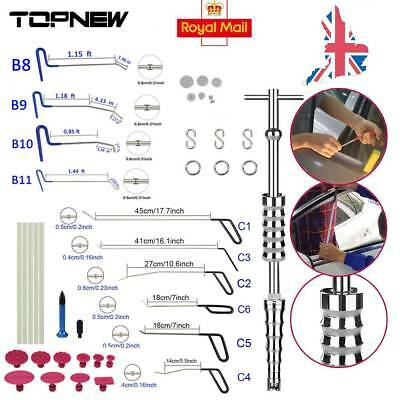 New Paintless Dent Repair Set 10PCS Push Rods Tools Slide Hammer Puller Tabs Kit