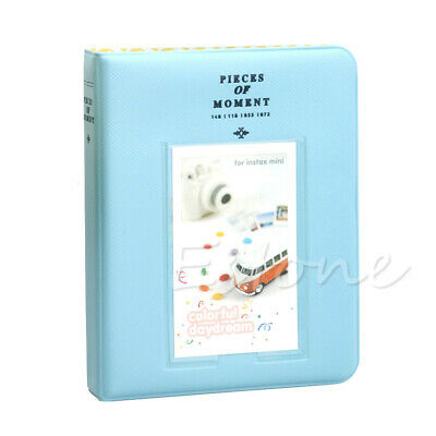 64 Pockets Photo Album Case For Fujifilm Instax Mini8 7s 25 50s 90 Storage Blue