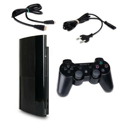 PLAYSTATION 3 PS3 Console Super Slim 500 GB Cech-4204C Black + Cavo + Controller