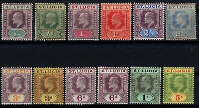 P118238 / St Lucia / British Colony / Sg # 64 / 73 – 75 - 77 Mint Mh 275 E